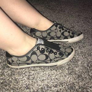Black Coach tennis shoes